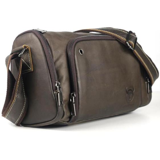 8d7cb16983 Pánská kožená taška Sport od Bullcaptain