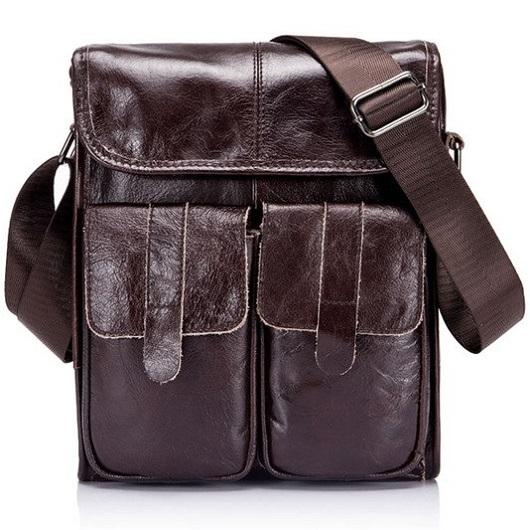 a9d61e3c107d8 Pánská kožená taška Pocket od Bullcaptain empty